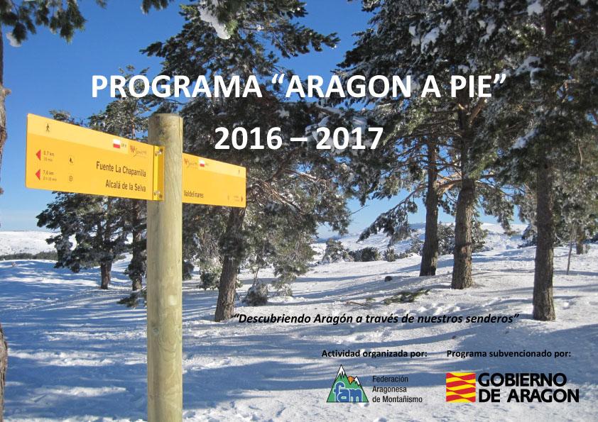 PROGRAMA ARAGON A PIE 2016 2017