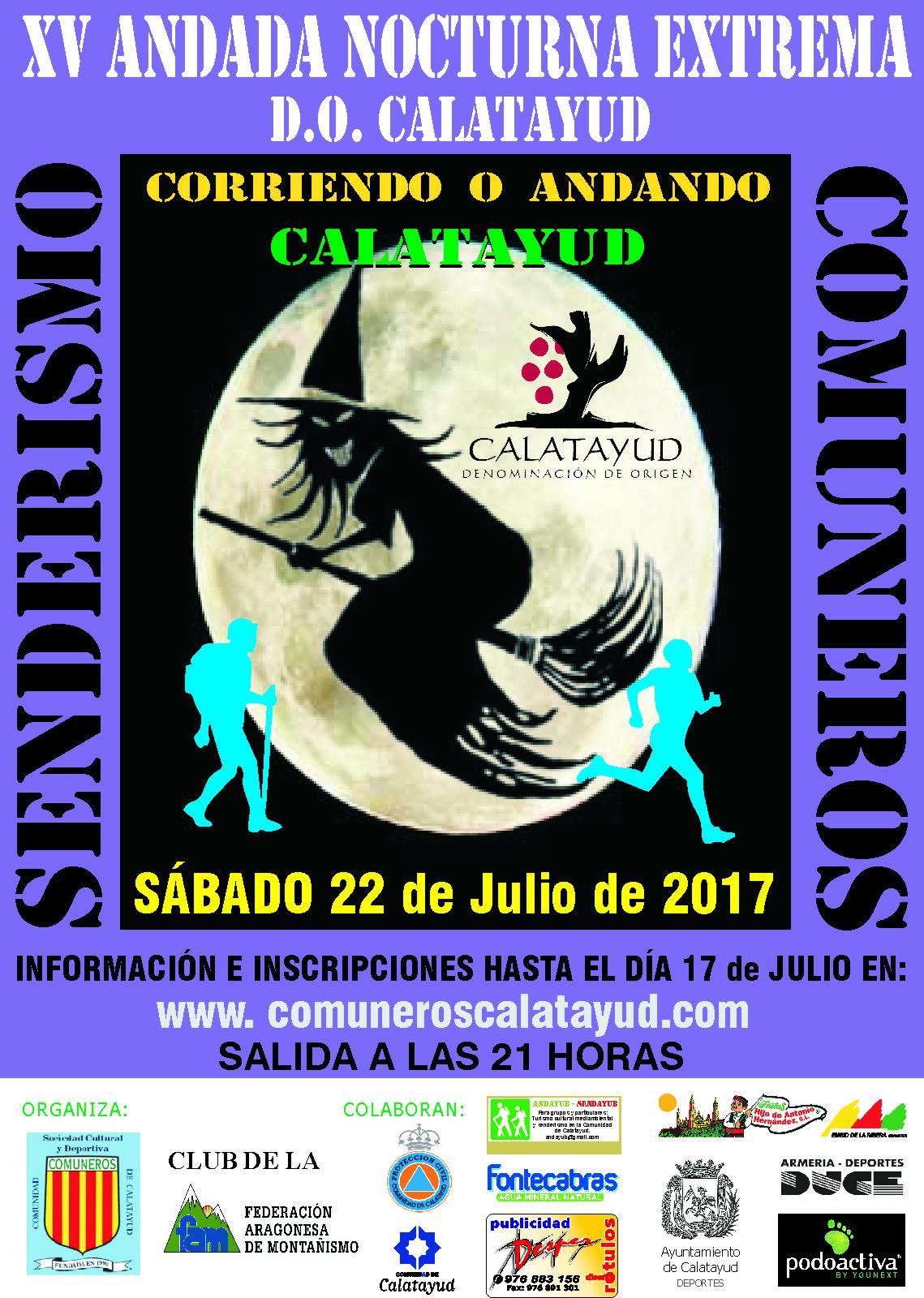 CARTEL COMUNEROS ANDADA LUNA LLENA 2017