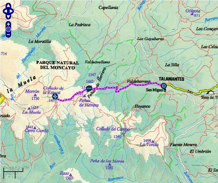 GR 90.1 - Etapa 1: COLLADO DE LA ESTACA- TALAMANTES